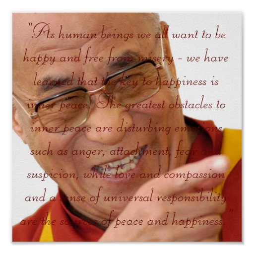 Little Seeds Art HH Dalai Lama Quote2 Poster