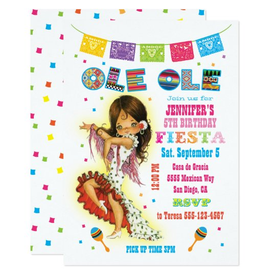 little señorita mexican fiesta birthday party invitation zazzle com