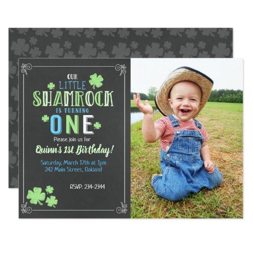 Little Shamrock 1st Birthday Boy St. Patrick's Day Card