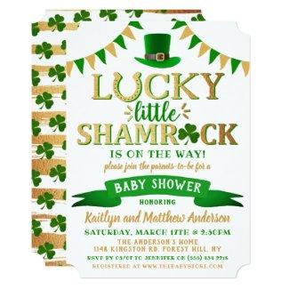 Little Shamrock St. Patrick's Day Baby Shower Invitation