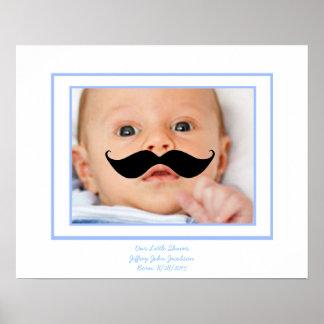 Little Shaver Custom  Baby Poster w/ Mustache