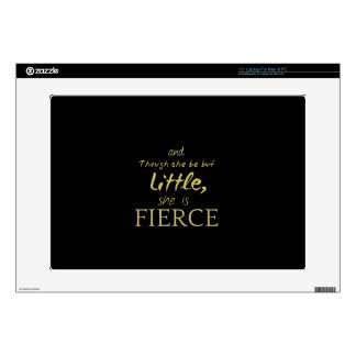 Little SHE IS FIERCE Shakespeare quote Skin For Laptop
