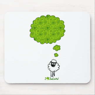 Little sheep dream about Ireland Mouse Pad
