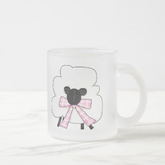 Little Sheep Frosted Glass Coffee Mug