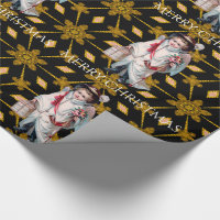 Little Shepherd Boy Victorian Christmas Wrapping Paper