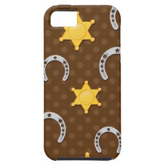 Little Sheriff Horseshoe Print iPhone SE/5/5s Case