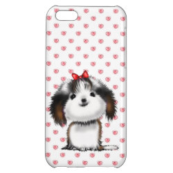 Case Savvy Matte Finish iPhone 5C Case with Shih Tzu Phone Cases design