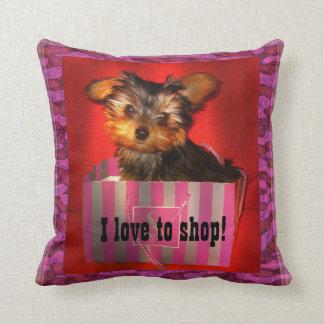 Little Shopper Yorkie Pillow