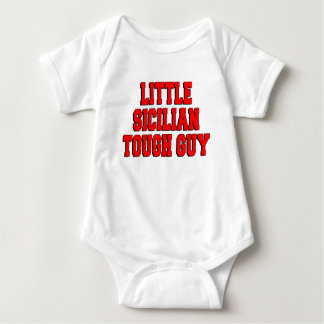 Little Sicilian Tough Guy Baby Bodysuit