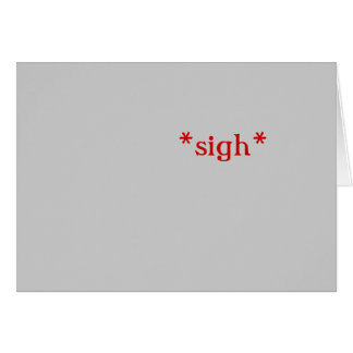 Little Sigh: cards (gray)