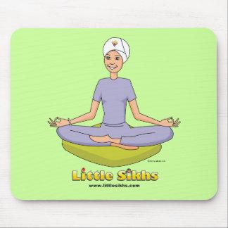 Little Sikhs Yoga Theme Mouse Pad