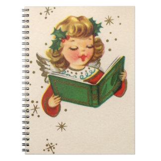 Little Singing Angel Spiral Note Books