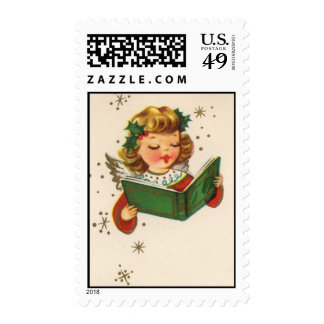 Little Singing Angel Postage Stamp