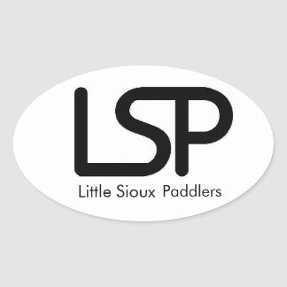Little Sioux Paddlers Oval Sticker