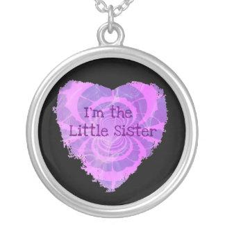 Little Sis Round Pendant Necklace