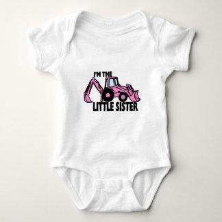 Little Sister Backhoe Baby Bodysuit