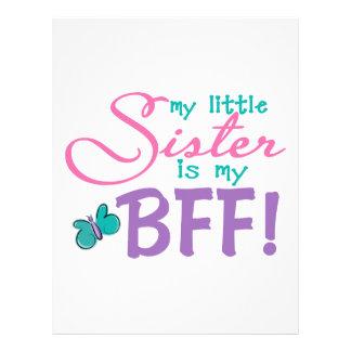 Little Sister BFF Butterfly Letterhead