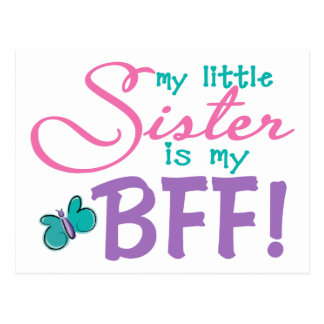 Little Sister BFF Butterfly Postcard