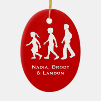 Little Sister, Big Brothers: Silhouette Siblings Christmas Ornament