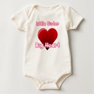 Little Sister, Big Heart Baby Bodysuit