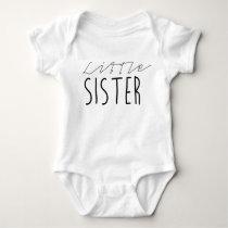 Little Sister | Black Bold Typography Baby Bodysuit