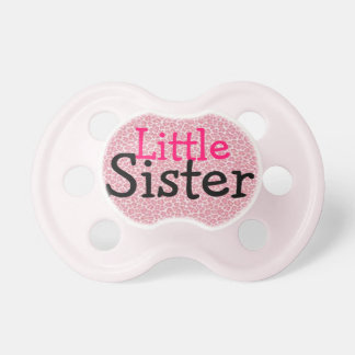 """Little Sister"" Cheetah Print Baby Pacifier"
