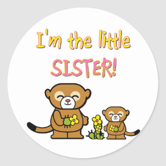 Little Sister Classic Round Sticker