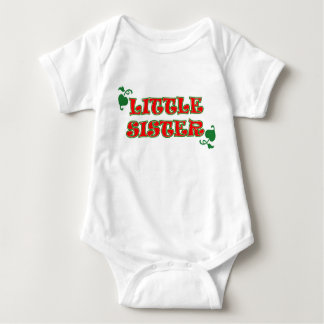 LITTLE SISTER COLLECTION (CHRISTMAS EDITION) BABY BODYSUIT