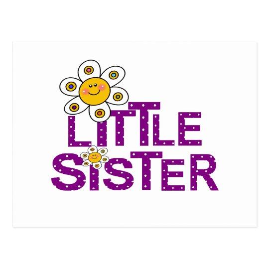 Little Sister Cute Flower Postcard
