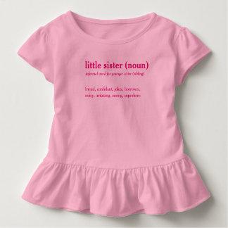 Little sister dictionary definition custom t-shirt