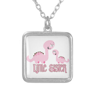 Little Sister Dinosaur Personalized Necklace
