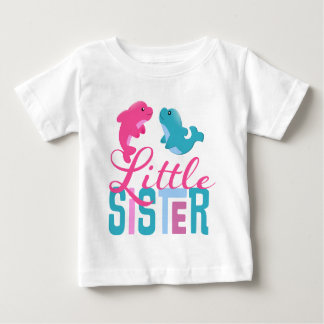 Little Sister Dolphins Baby T-Shirt
