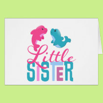 Little Sister Dolphins Card