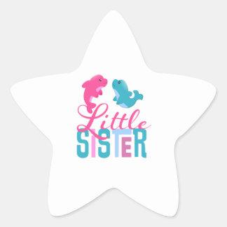 Little Sister Dolphins Star Sticker