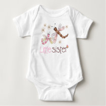 Little Sister Dragonfly Baby Bodysuit