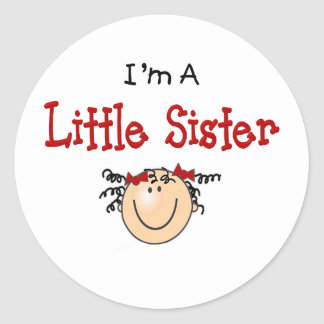 Little sister  Face Classic Round Sticker