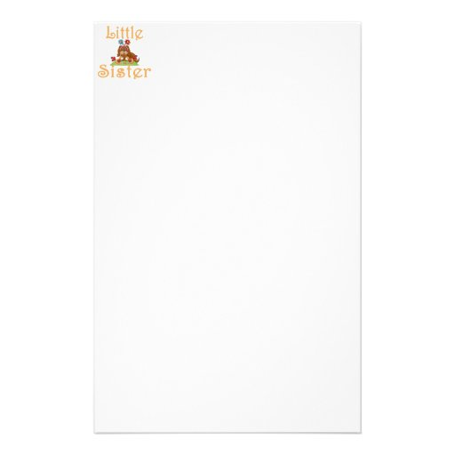 Little Sister Fluffy Pup 6 Stationery