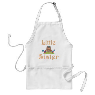 Little Sister Fluffy Pup 8 Adult Apron