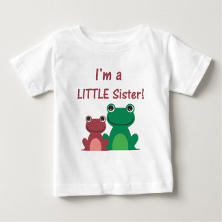 Little Sister Frog Sibling T (Green/Pink) Baby T-Shirt