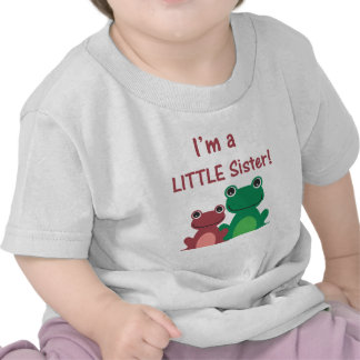 Little Sister Frog Sibling T (Green/Pink) Tees