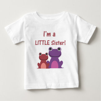 Little Sister Frog Sibling T (Purple/Pink) Baby T-Shirt