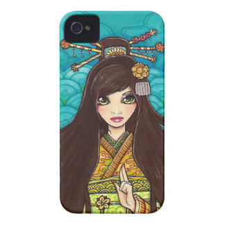Little Sister Geisha in Kimono iPhone 4/4S Case