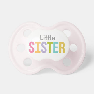 Little Sister | Girl's Custom Baby Pacifier BooginHead Pacifier