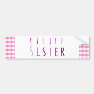 Little sister in pink bumper sticker