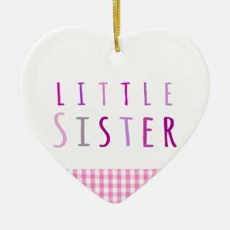 Little sister in pink christmas ornament