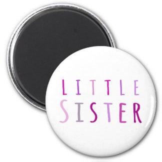 Little sister in pink fridge magnets