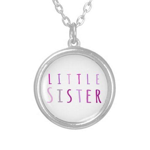 Little sister in pink pendant