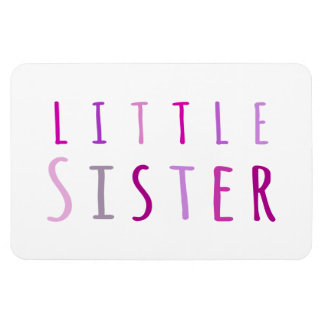 Little sister in pink rectangle magnets