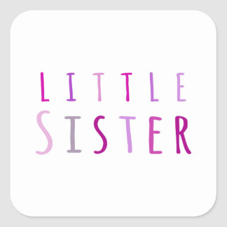 Little sister in pink square sticker