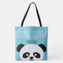 Little Sister Kawaii Panda Bear Face Animal Girls Tote Bag